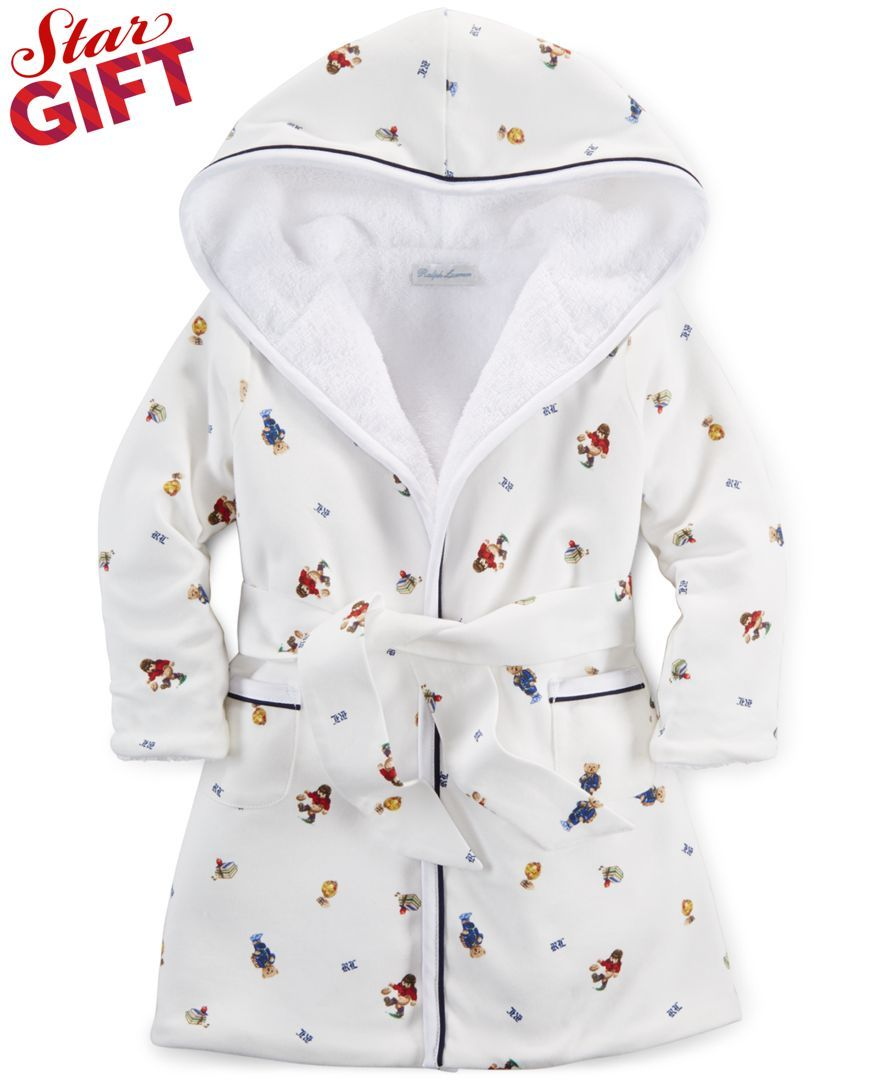 Teen Boys Luxury Fleece Dressing Gown Hooded Bath Robe Housecoat Kids Infant