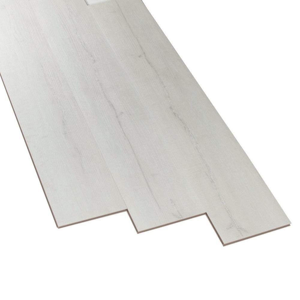white wood vinyl plank flooring platinum virgin white wood vinyl nucore glacier wide plank with cork back 6 5mm floor and decor