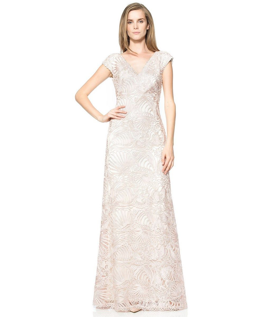 f2db17e0078 TADASHI SHOJI PASSAMENTERIE SEASHELL EMBROIDERED TULLE GOWN .  tadashishoji   cloth  formal evening