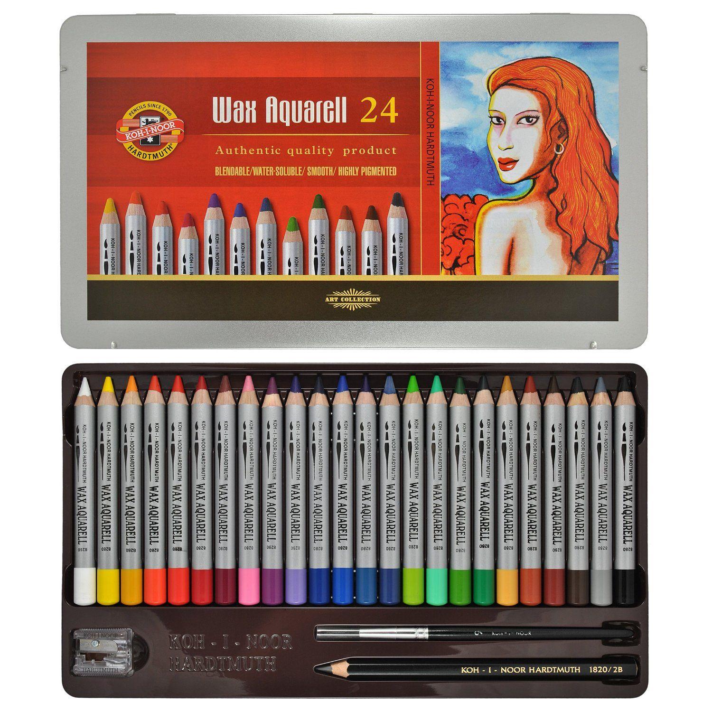 Koh I Noor Wax Aquarelle 24 Fine Wax Pastels 8284 Amazon Co Uk