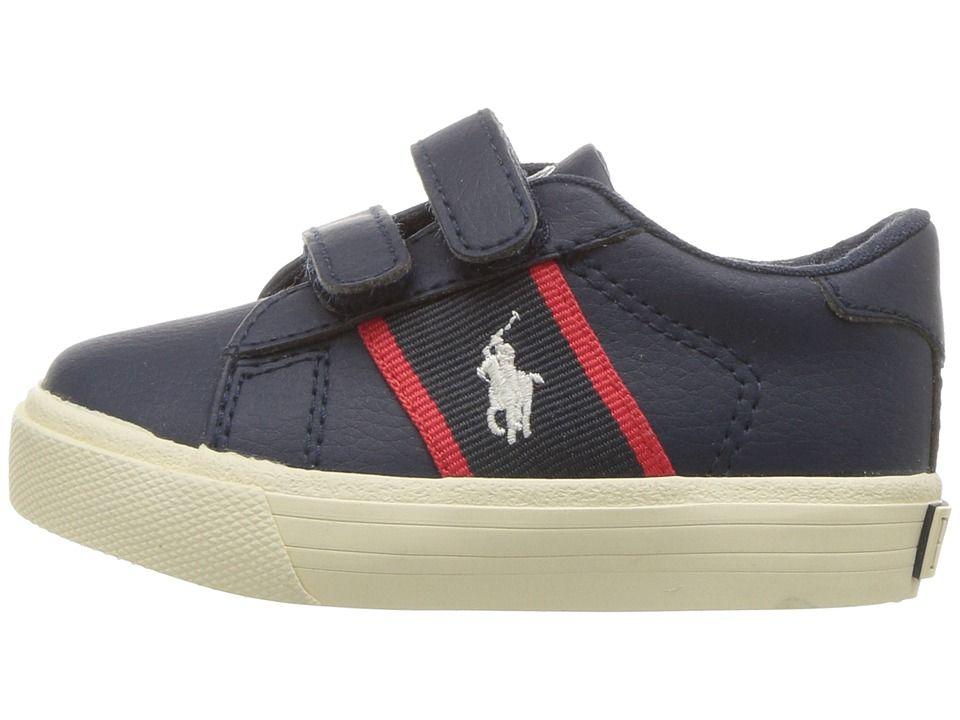 e62eebabdfd43 Polo Ralph Lauren Kids Geoff EZ (Toddler) Boy's Shoes Navy/Red ...