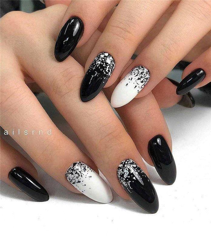 20 Simple Black Nail Art Design Ideas 1 Black Nail Designs Trendy Nail Art White Nail Designs