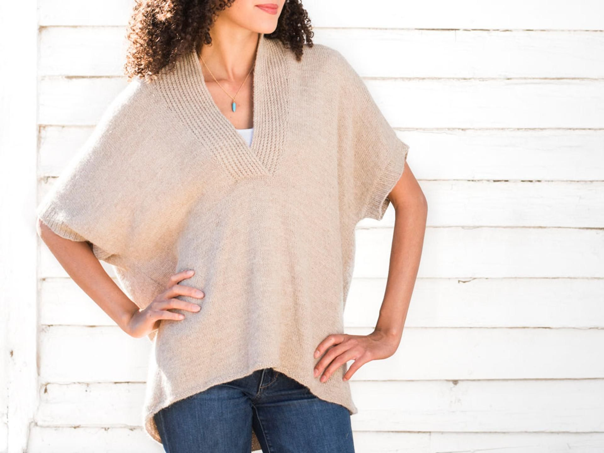 Bexley Popover Sweater Knitting Kit | Knitting ideas