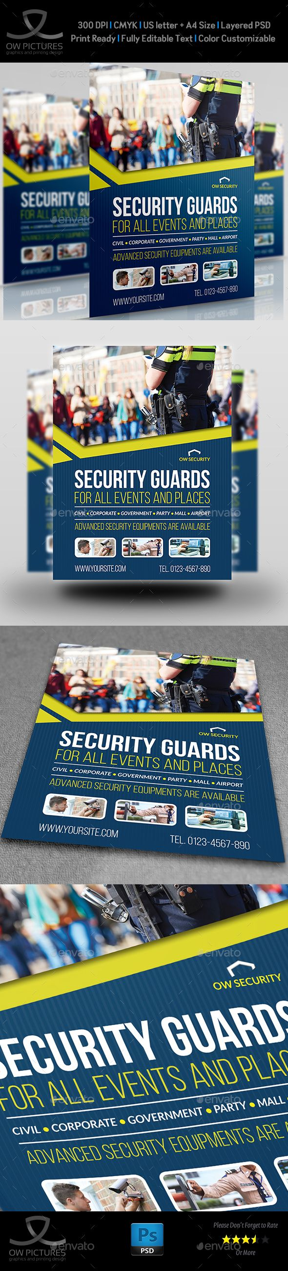 security guards flyer template corporate flyers flyer