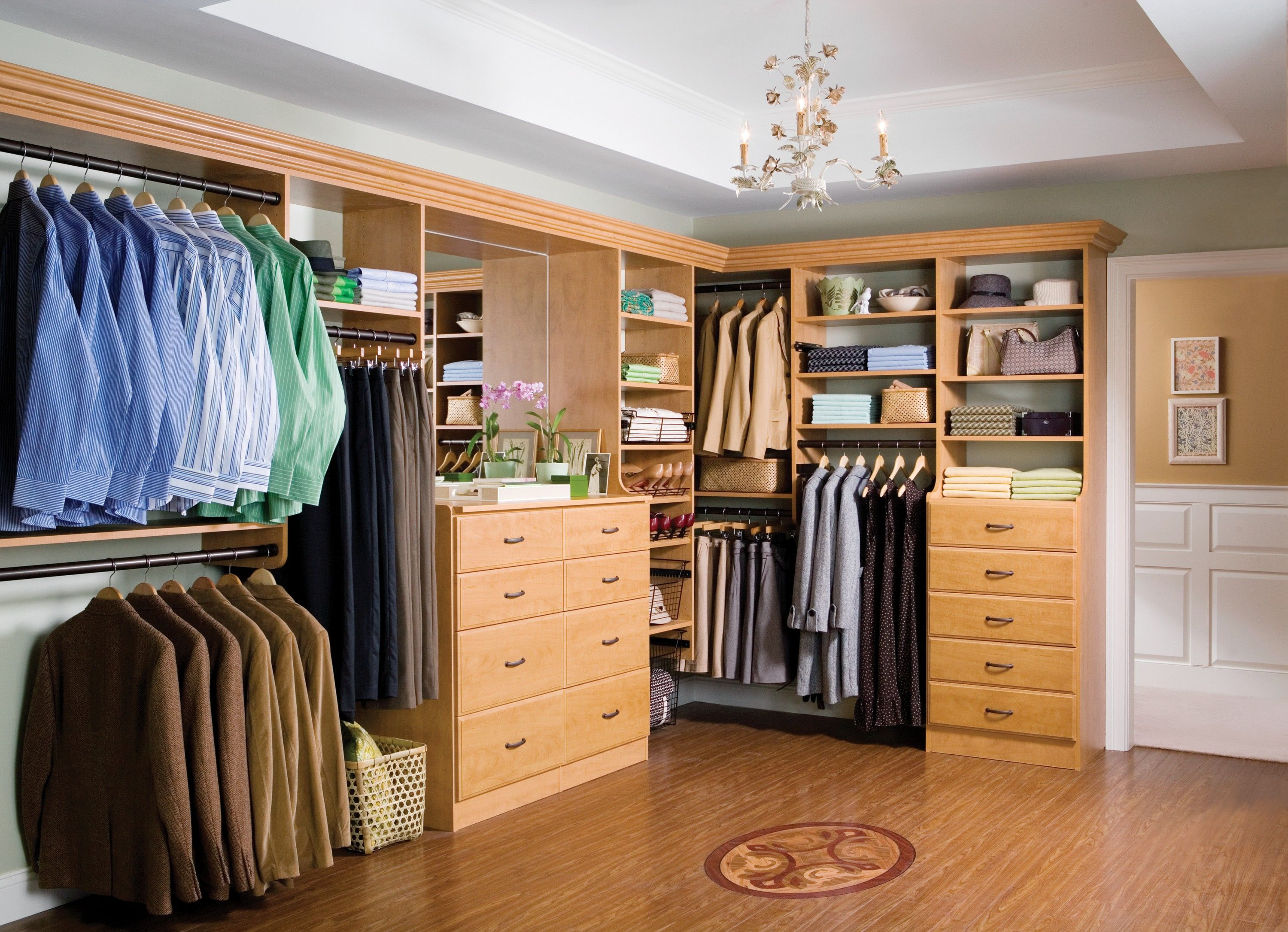appealing large walk in closet designs with calm valet hanger rods also build wooden drawers and