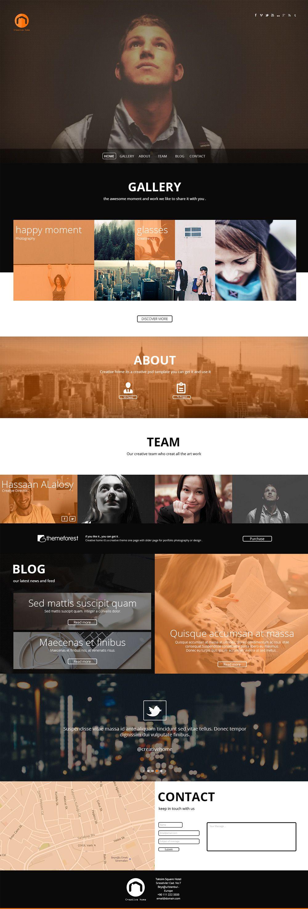 Free Portfolio Website Templates (PSD) » CSS Author Free