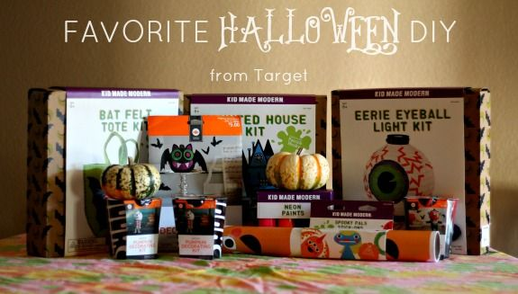 Halloween DIY with Kid Made Modern from Target   LOVE Kid Made
