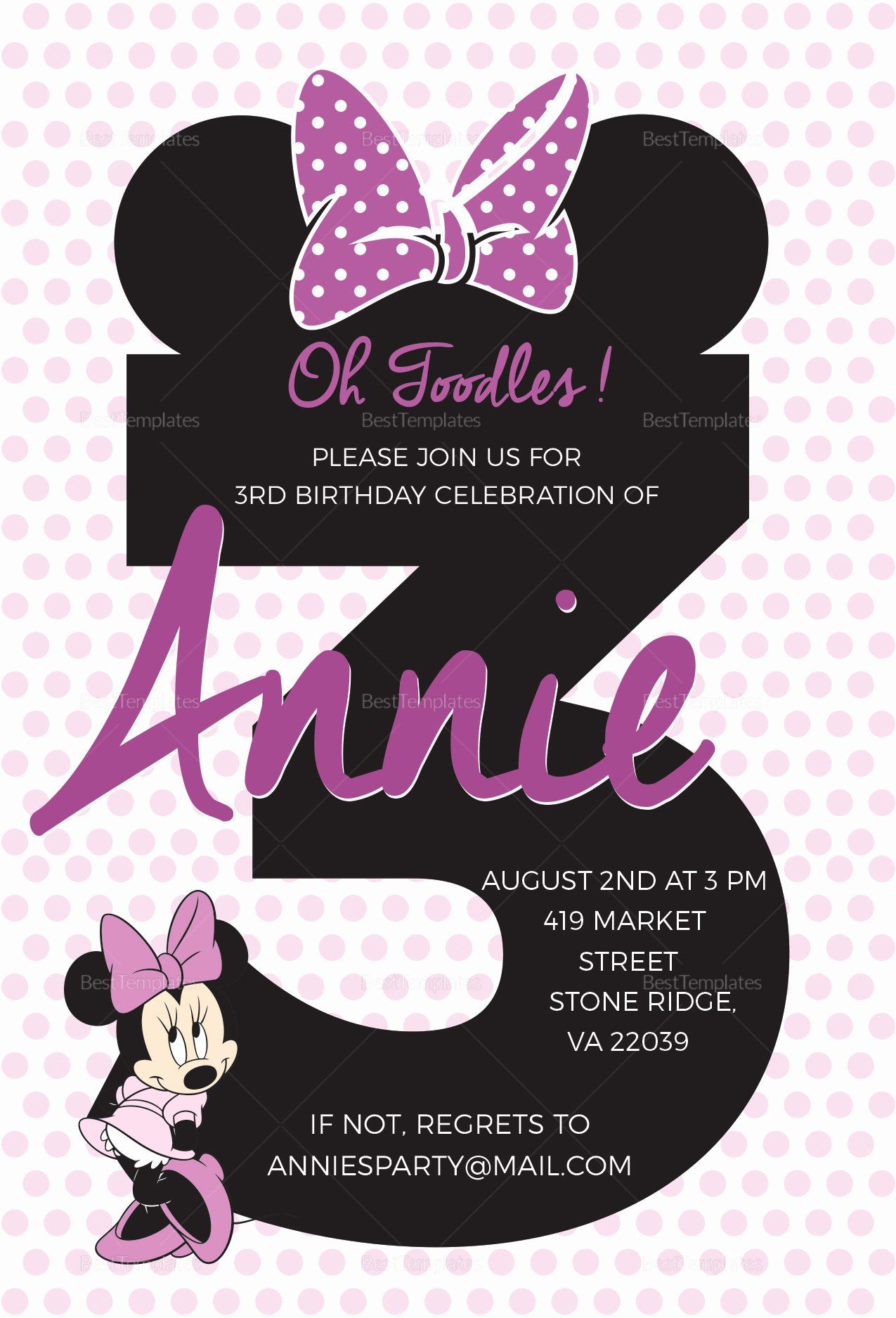 Minnie Mouse Birthday Invitation Template Harlem Printable Invitations Minnie Mouse Birthday Invitations Mickey Mouse Birthday Invitations Minnie Mouse Invitations