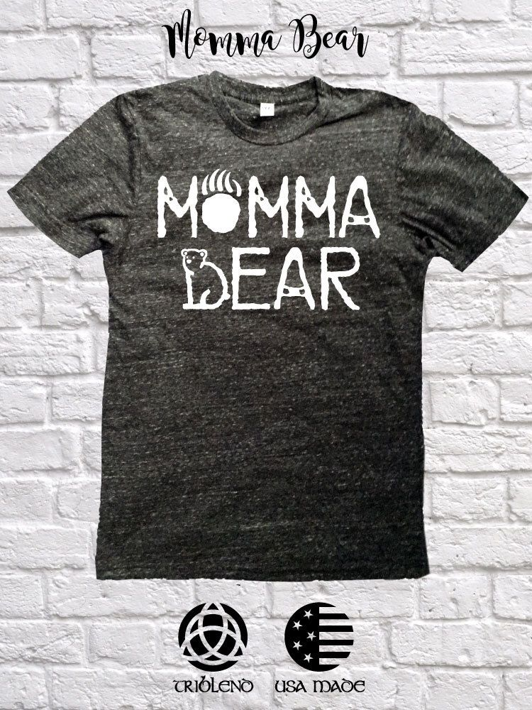 Last One Momma Bear Distressed Tee Mommy And Me Shirts