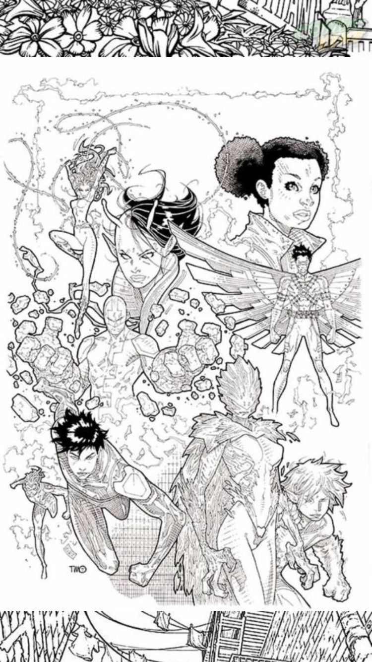 Comic book print out colouring sheets   Super Hereos and Villains ...