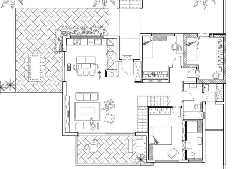 120sqm House Kibbutz Kfar Hahoresh Fineshmaker House House Construction Plan House Plans