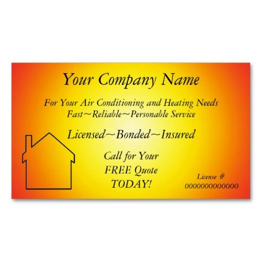 AC/Heating/Solar~Appliance Contractor Bus. Card Business Cards