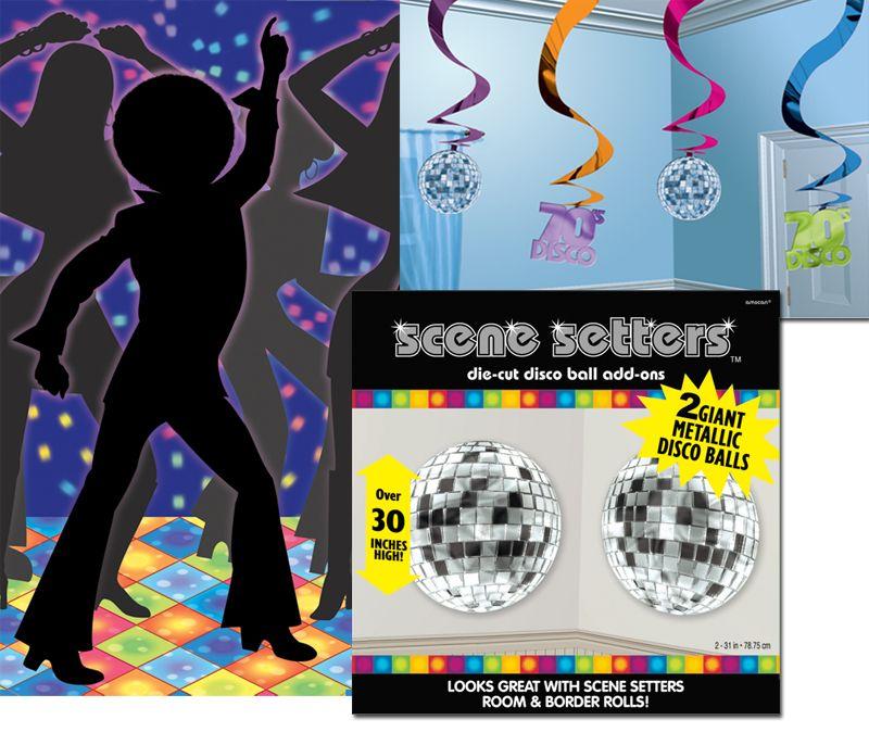 Un kit especial para decorar tu fiesta disco o tu fiesta for Decoracion 80 anos ipuc