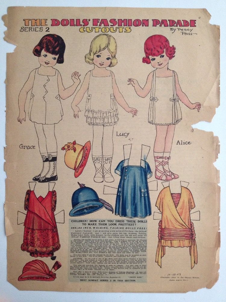 Us 2000 Used In Dolls Bears Paper Dolls Vintage Penny Ross