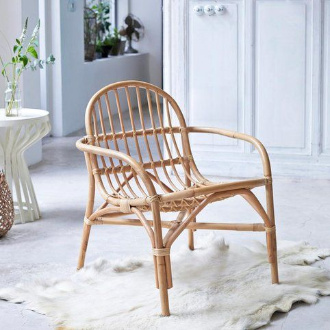 Assise en rotin Mina naturel - Naturel- Vue 1 For Home / Aix