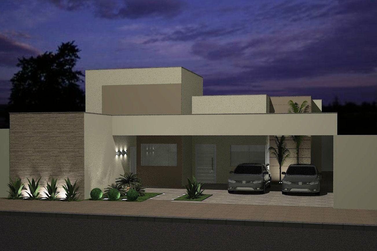 Fachadas para casas arquitectura pinterest fachadas for Casa moderna 4 mirote y blancana