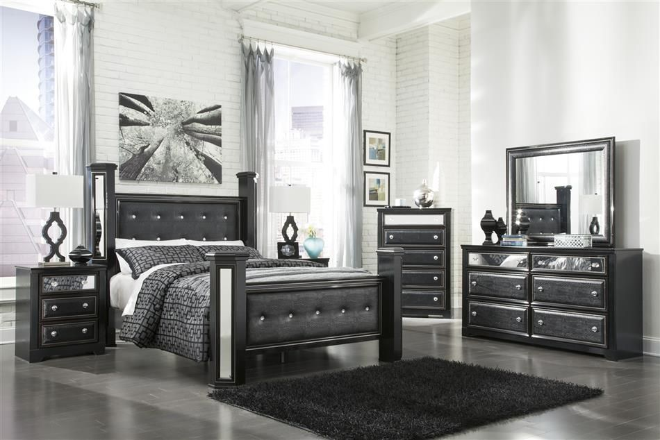 Best King Master Bedroom Sets Black Faux Leather 400 x 300