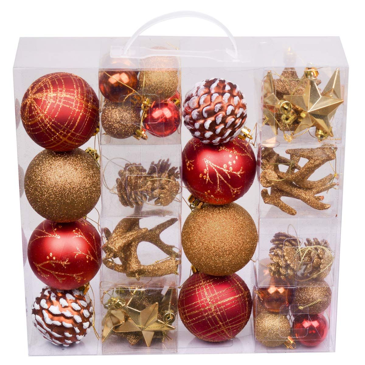 Valery Madelyn 50ct Woodland Shatterproof Christmas Ball Ornaments Decoration Red Brown Click On The Image For Ornament Decor Ball Ornaments Christmas Balls