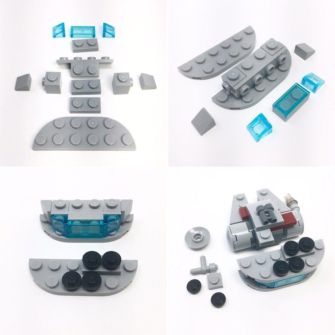 Poseable Micro Millennium Falcon Instructions The Brothers Brick Lego Star Wars Mini Micro Lego Lego Design