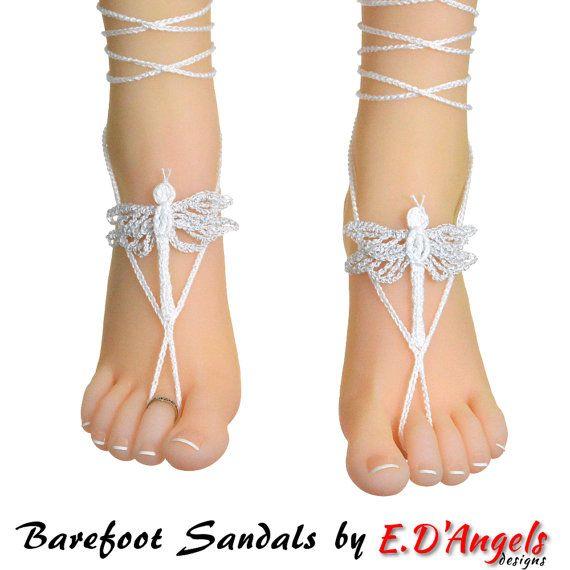 Barefoot sandals   Crochet   Crochet pattern   wedding sandals ...