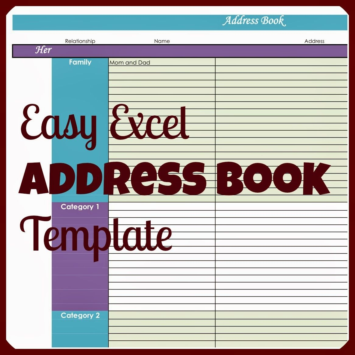 why would you ever need an address book in excel when there are so