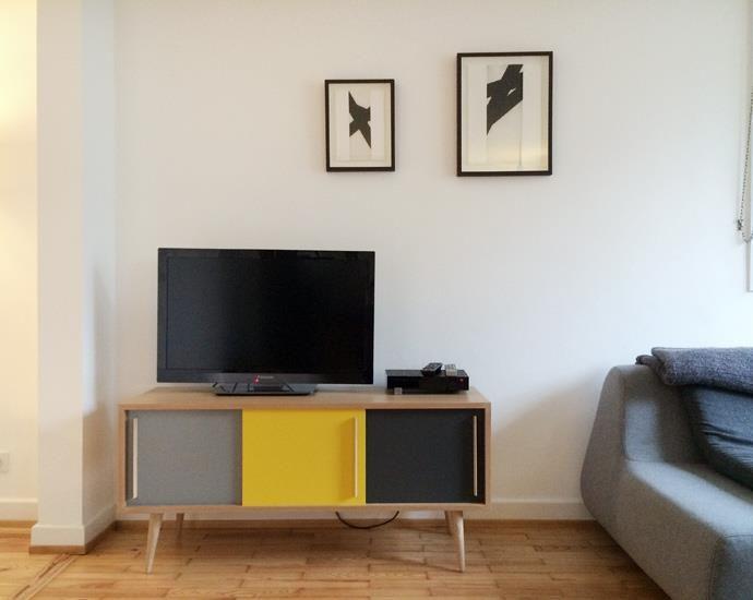 salon avec meuble tv tricolore vintage id es d co pinterest meuble tv tv et style salon. Black Bedroom Furniture Sets. Home Design Ideas