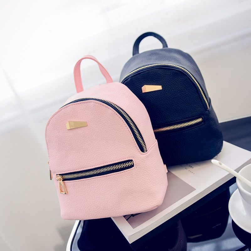 801953b4e1 Pretty Women Leather Backpacks Mini Travel Rucksack Handbags School Bag XN