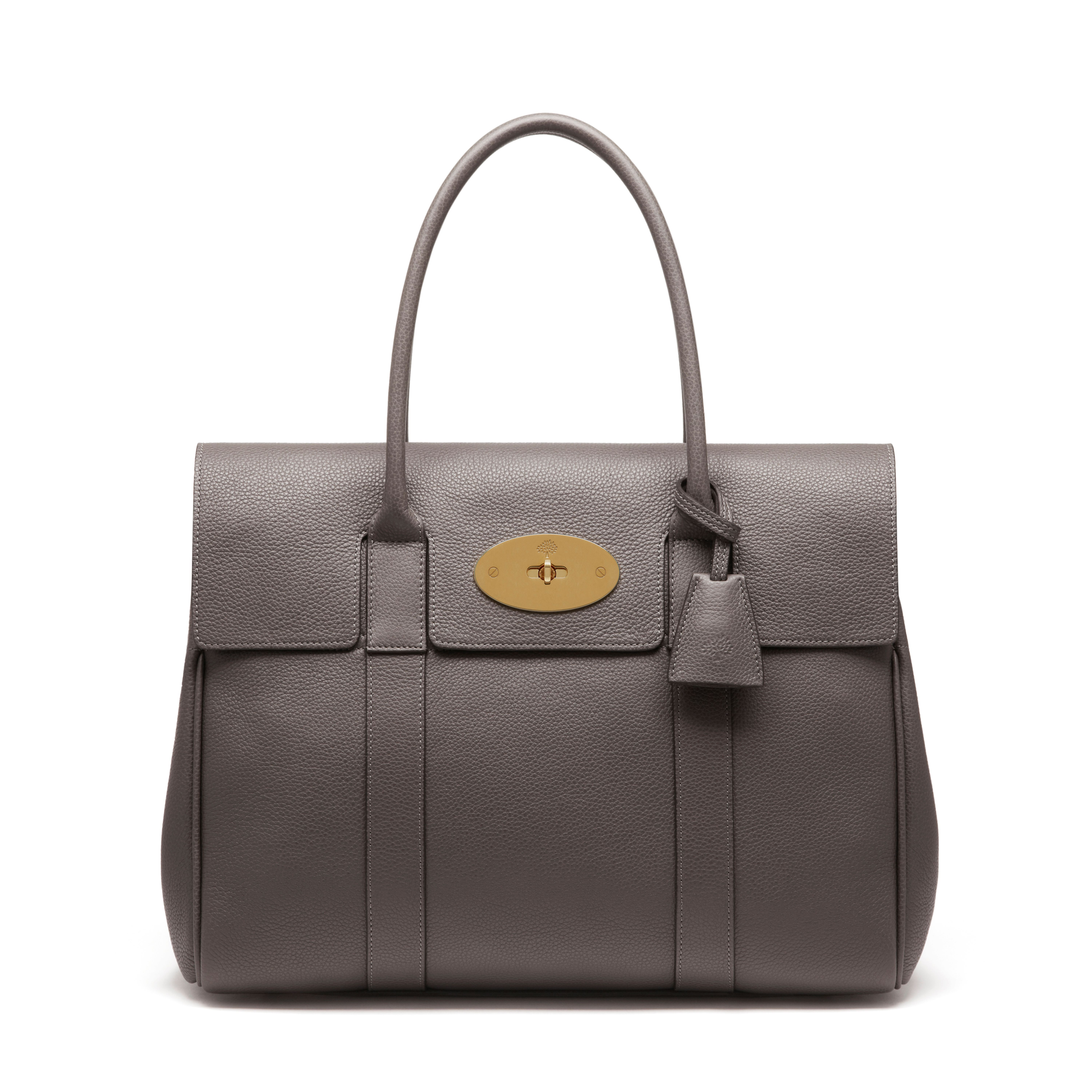 7788f4d830 Mulberry - Bayswater in Dark Grey Small Classic Grain