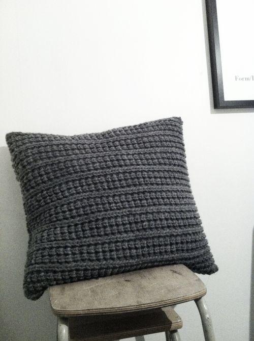 Cojín gris   Crochet   Pinterest   Gris, Tejido y Labores