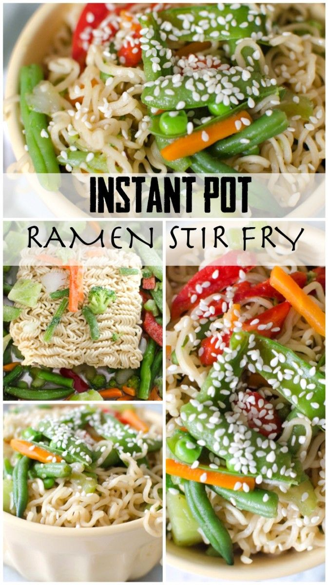 Instant Pot Ramen Stir Fry - Cooking With Karli