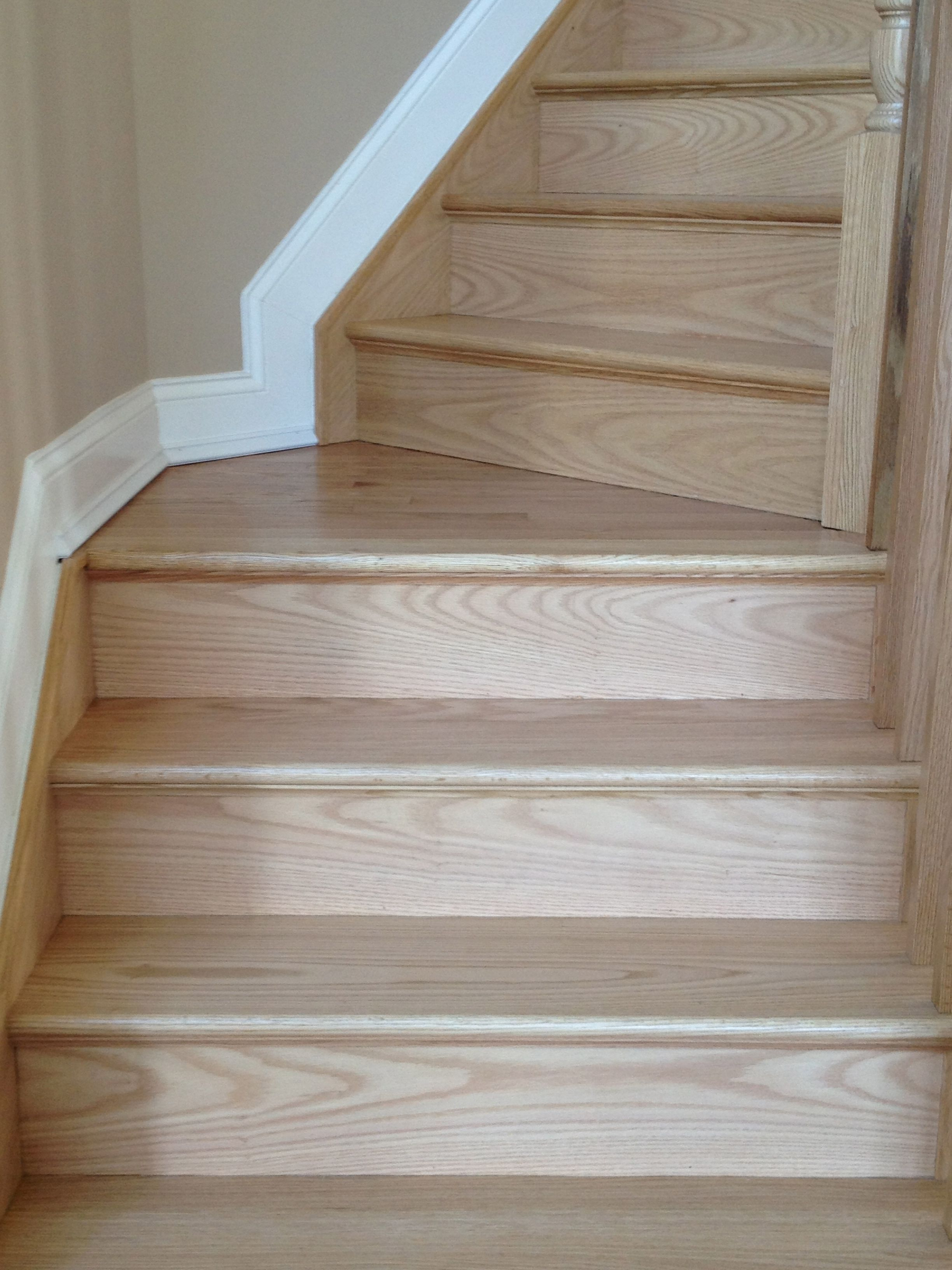 Gorsegner Brothers  Hardwood  Floors features replacement red oak     Gorsegner Brothers  Hardwood  Floors features replacement red oak  stair  risers and stringers finished in a natural color