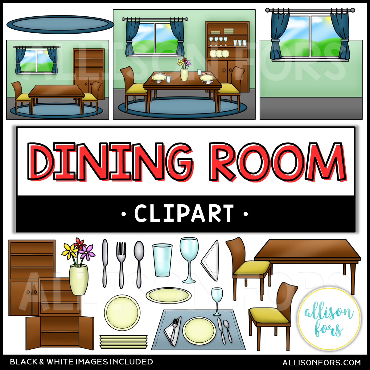 House Dining Room Clip Art Allison Fors Functional Life Skills Clip Art Dining Room