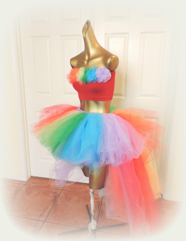 db7e4b296fa7a Adult Rainbow tutu, Adult high low Tutu, Gay Pride tutu, rainbow tutu, gogo  dancer, rave tutu, edc raver tutu, Somewhere over the rainbow by TutuHot on  Etsy