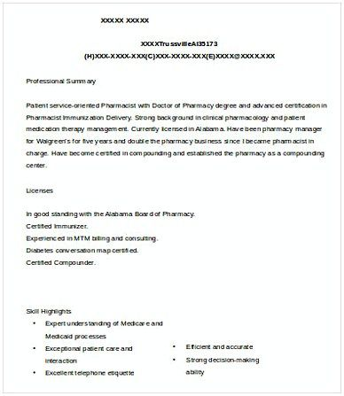 Sample Pharmacist Manager Resume , Pharmacy Manager Resume , If you