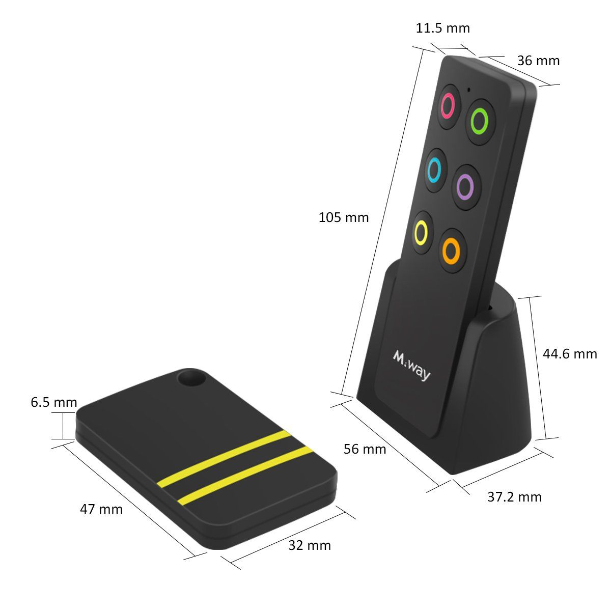 fafffe15b74a Key Finder MWAY Wireless RF Item Locator Key Tracker Antilost Alarm Keychain  1 RF Transmitter and