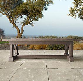 bruges trestle french oak dining collection restoration hardware french