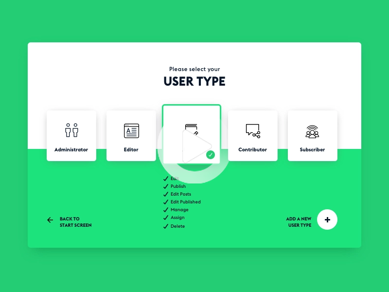 #DailyUI #064 Select User Type Interface Design. 100 Interface Designs in 100 Days. #ultimateuiux #ui #ux #dailyui #uidesign #uidesigner #uxdesign #userinterface #userexperience #interface #desig... #webdesign #webdesign2020