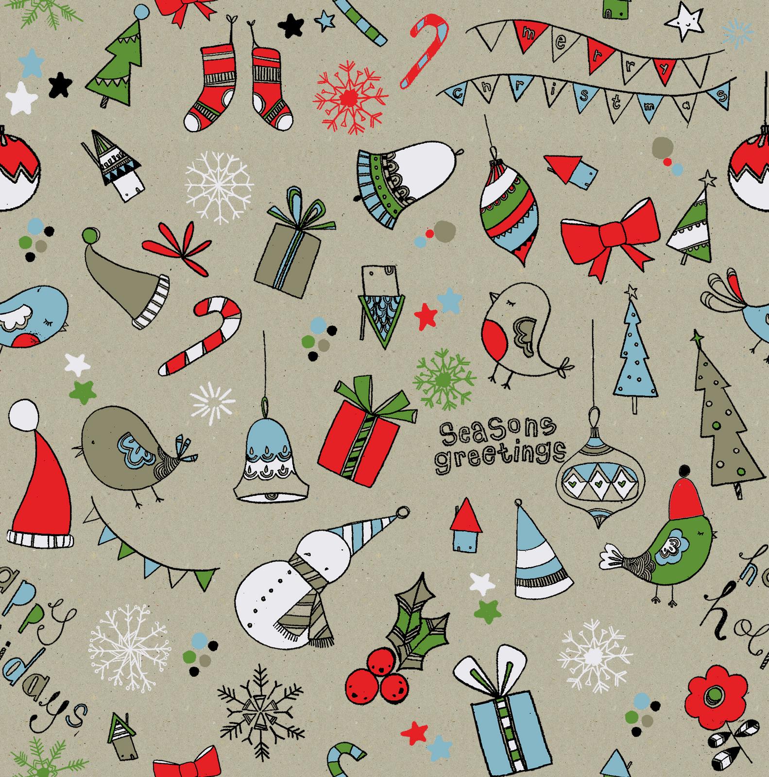 Carly Gledhill Illustration Christmas Patterns