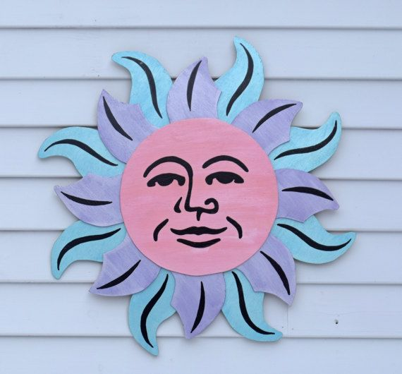 Celestial Sun Yard Art, Fence Decor, Outdoor Wall Decor, House Art ...