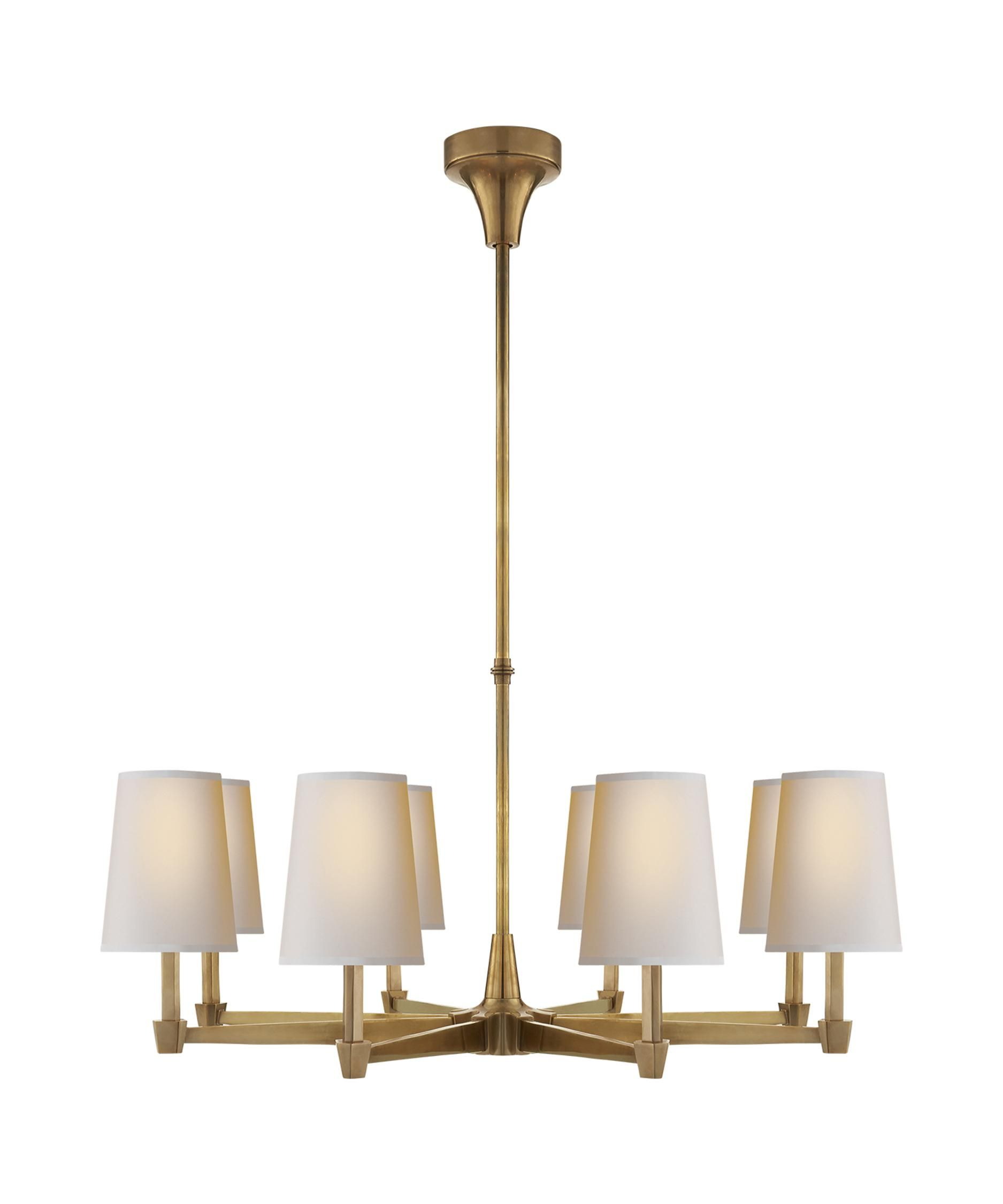 Thomas O Brien Caron 30 Inch 8 Light Chandelier Capitol Lighting Large Chandeliers Visual Comfort Chandelier Visual Comfort Lighting