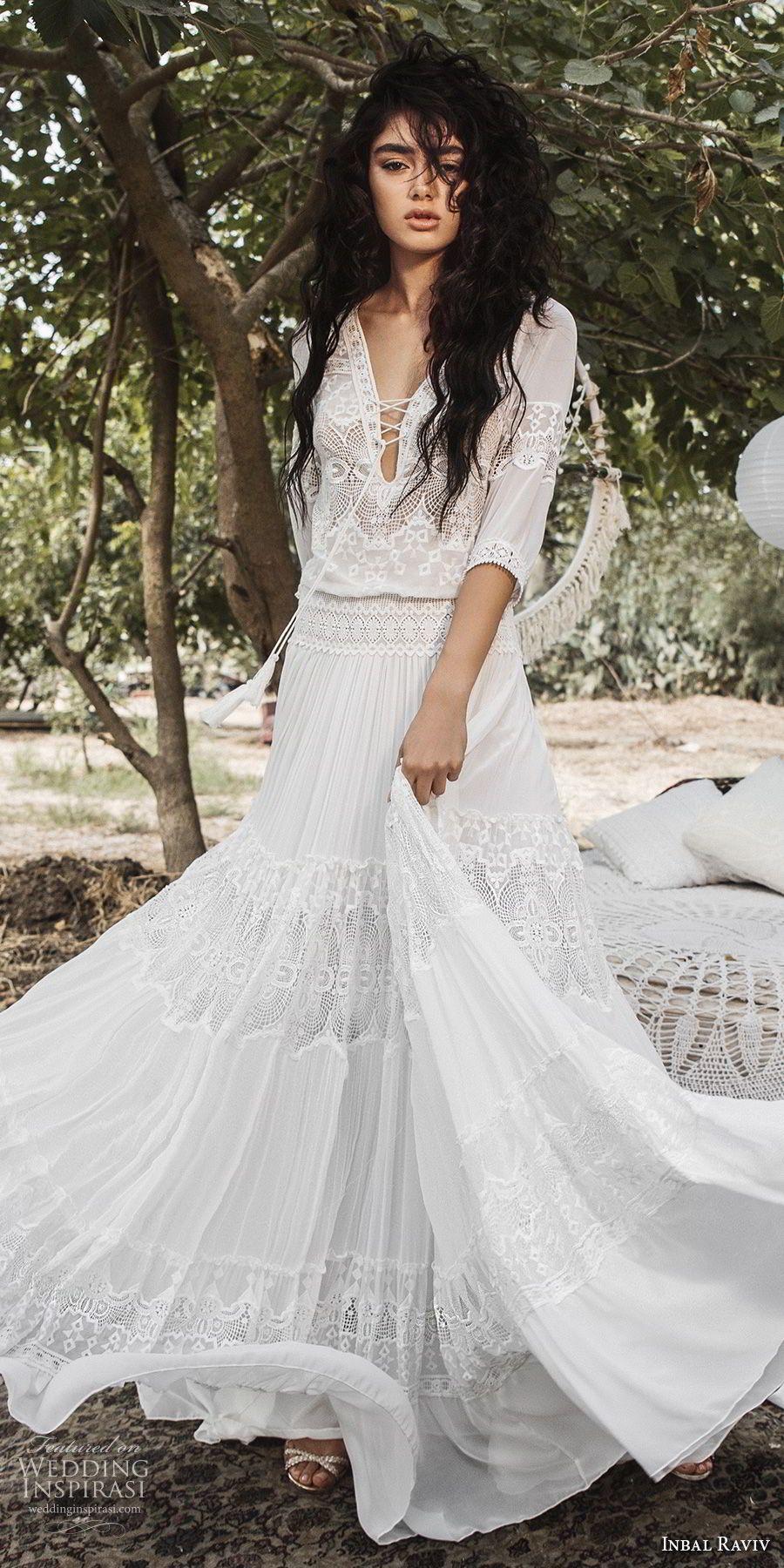 Boho wedding dress with sleeves  Inbal Raviv  Wedding Dresses  Wedding  Pinterest  Bodice