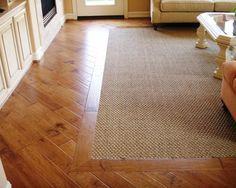 Carpet Inlay In Wooden Floor Living