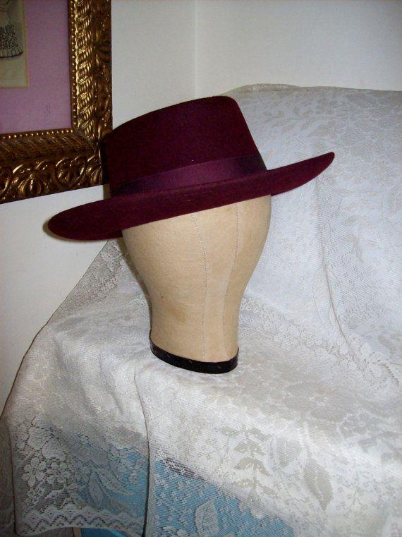 Vintage Men s Diamond Jim Cowboy Hat Silver Spur B Bar H Only 15 USD ... 6e5219c75427