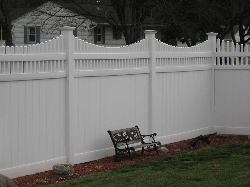 White Privacy Fence Ideas And Vinyl Privacy Fencing
