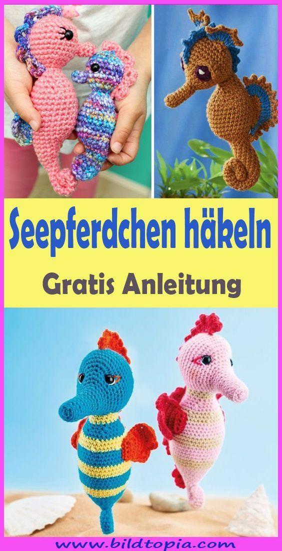 Photo of Crochet Amigurumi Seahorse – Free & Easy Instructions  – Häkeln – Anleitungen -…
