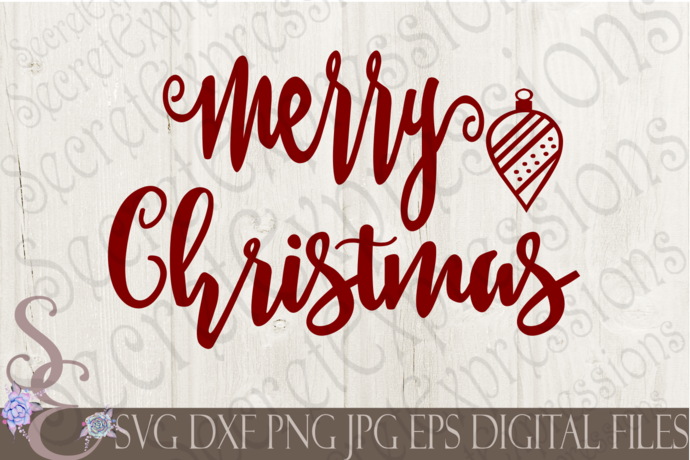 Download Merry Christmas Svg, Christmas Digital File, SVG, DXF, EPS ...