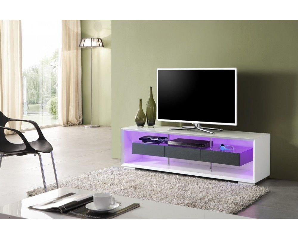 Redoutable Meuble Tv Led Gris D Coration Fran Aise Pinterest  # Vente Meuble Tele