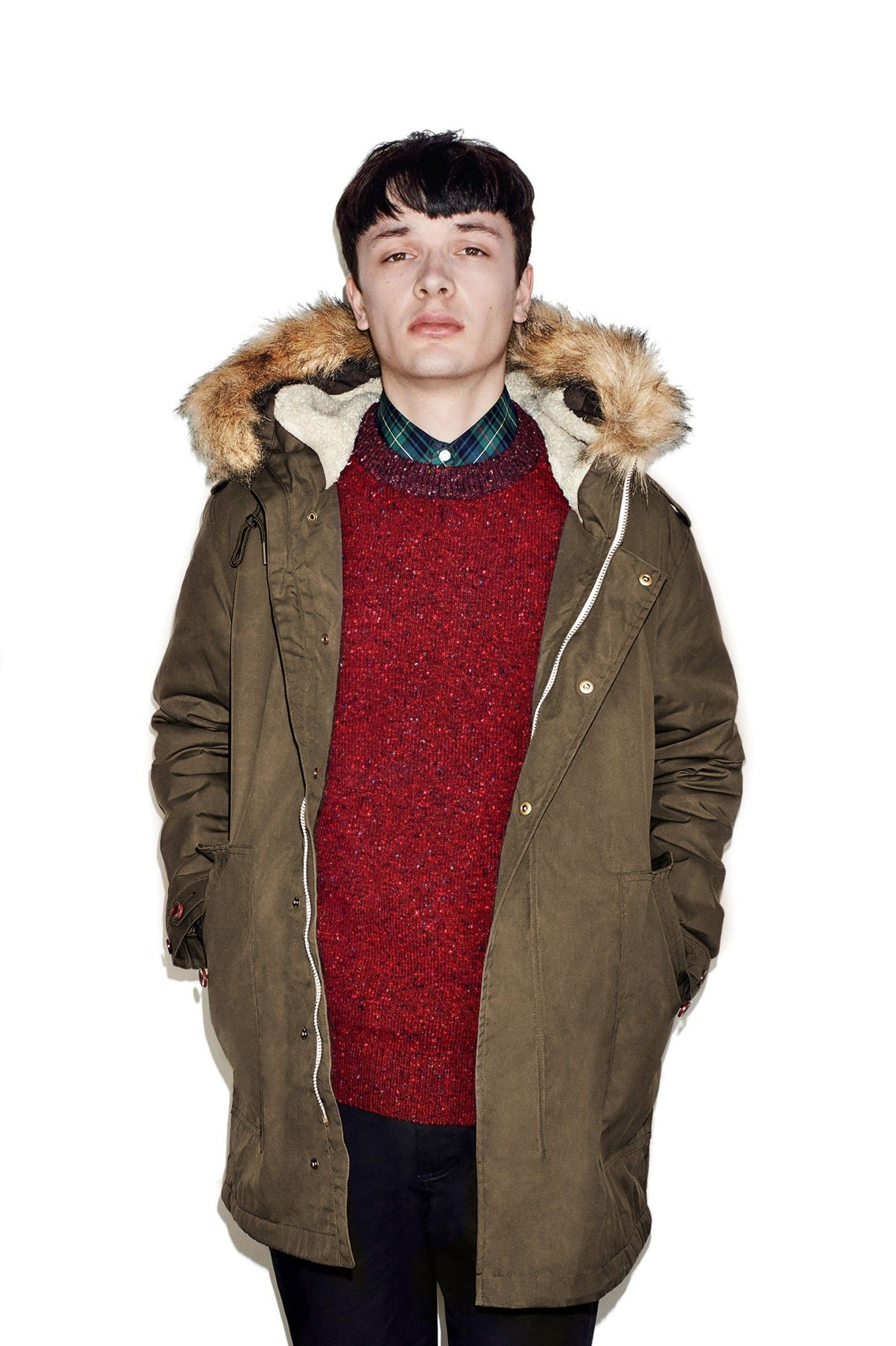 fred perry Shearling Lined Wax Parka Wren - Google Search | Klær ...