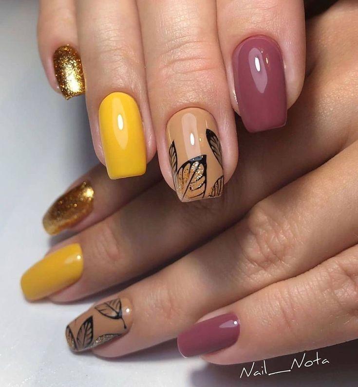2019 Unique Nail Arts To Copy Fall Nail Art Designs Unique