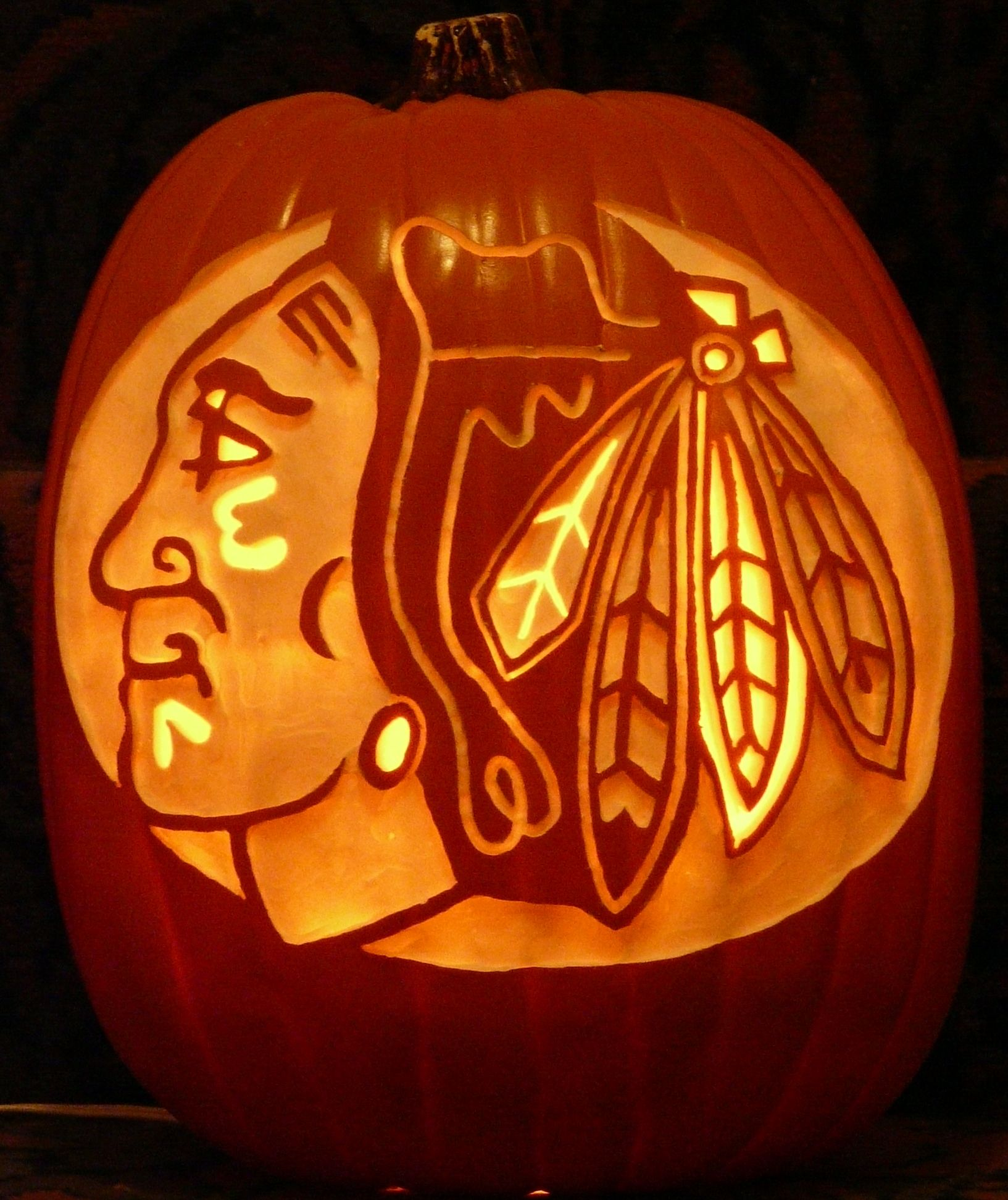 Halloween Ideas Heres A Chicago Blackhawks Pattern By Stoneykinscom That